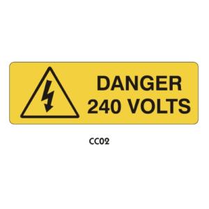Warning Labels - Danger 240 Volts - CC02