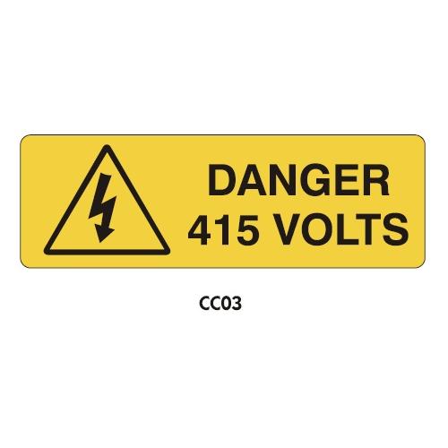 Warning Labels - Danger 415 Volts - CC03