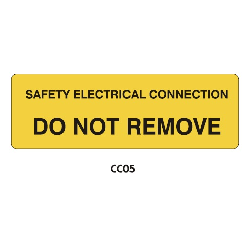 Warning Labels - Safety Electrical Connection - CC05