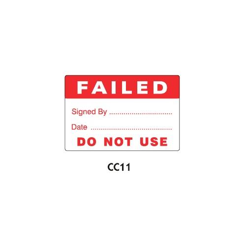 PAT Testing Labels - Fail - CC11