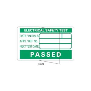 PAT Testing Pass Labels - Part Laminated Vinyl - CC20