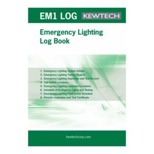 Kewtech EM1 LOG Emergency Lighting Log Book