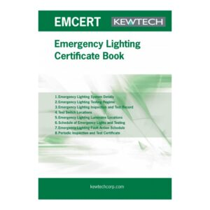 Kewtech EMCERT Emergency Lighting Certificate Book