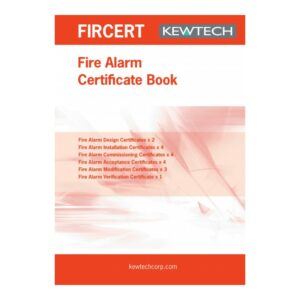 Kewtech FIRCERT Fire Alarm Certification Book