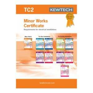 Kewtech TC2 Minor Works Certificates