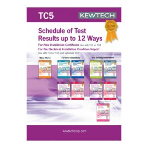 Kewtech TC5 Schedule of Test Results