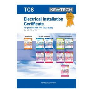 Kewtech TC8 Electrical Installation Certificates