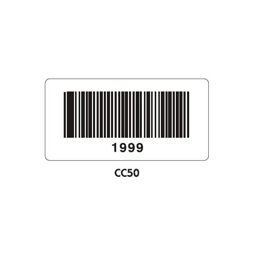 Vinyl Bar Code Labels - CC50